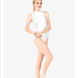 Natalie Adult Deep V-Back High Neck Tank Leotard